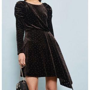 Topshop Black Velvet Burn Out Dress
